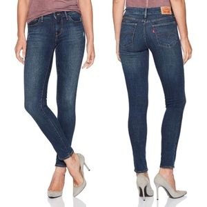 Levi's 711 Super Skinny Jeans Medium Wash Denim 28